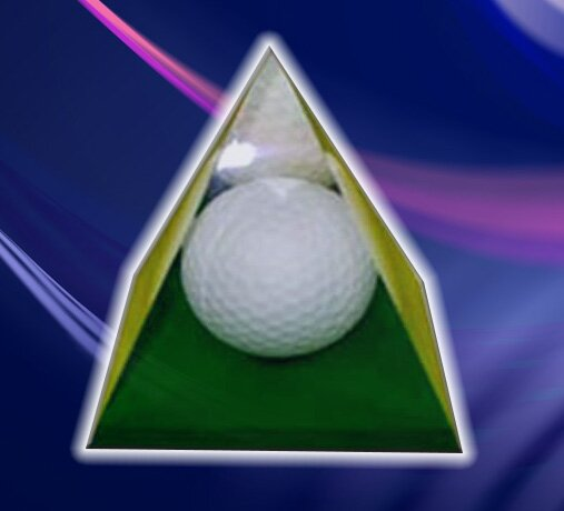 Golf Ball in Pyramid